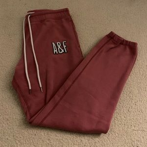 Dark Pink Abercrombie and Fitch Sweatpants 🔮